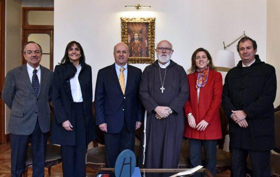 Reunión del Directorio USEC con Monseñor Celestino Aós